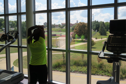 Spencer Student Recreation Center Cardio View