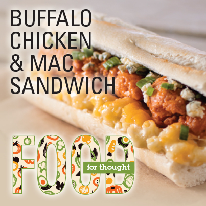 Buffalo Chicken & Mac Sandwich