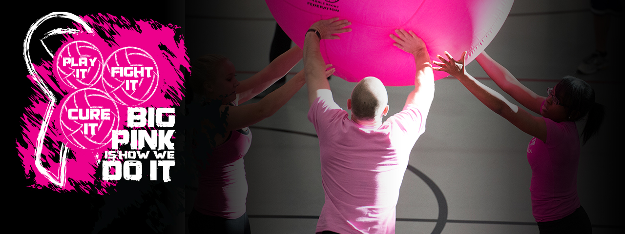 Big Pink Volleyball