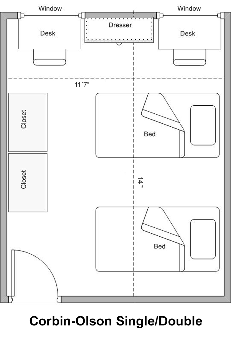 Corbin-Olson Single Double Floorplan