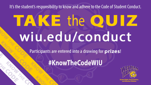 Click to Take the WIU Code of Student Conduct Quiz