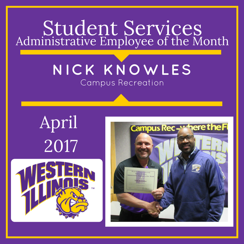 Administrative Employee of the Month - Nick Knowles, Campus Recreation