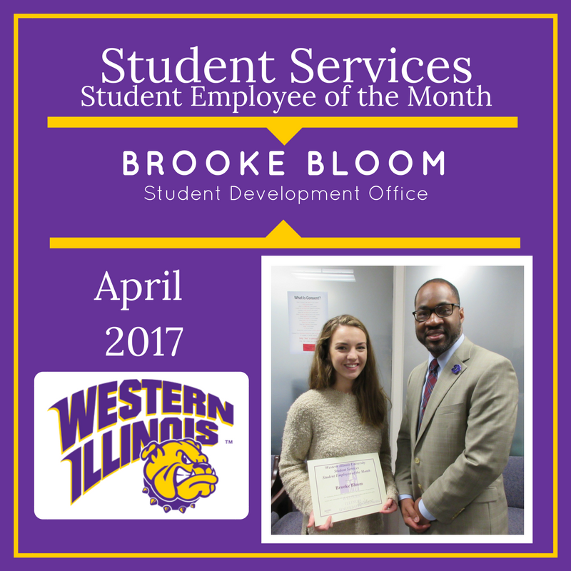 Student Employee of the Month - Brooke Bloom, Student Development Office