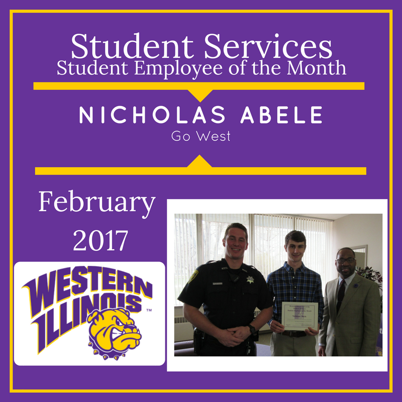 Student Employee of the Month - Nicholas Abele, Go West