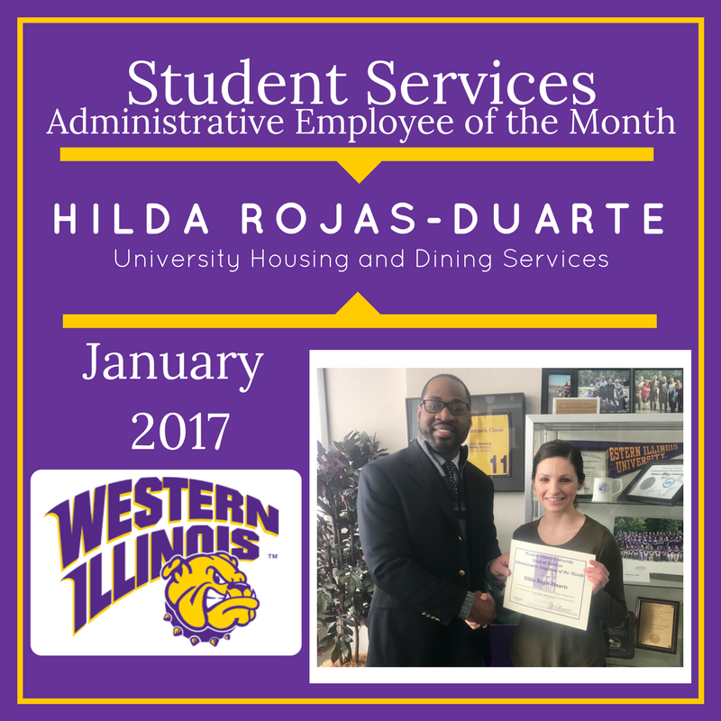 Administrative Employee of the Month - Hilda Rojas - Duarte, University Housing and Dining Services