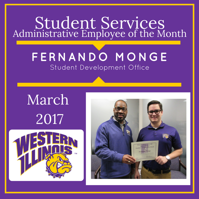 Administrative Employee of the Month - Fernando Monge, Student Development Office