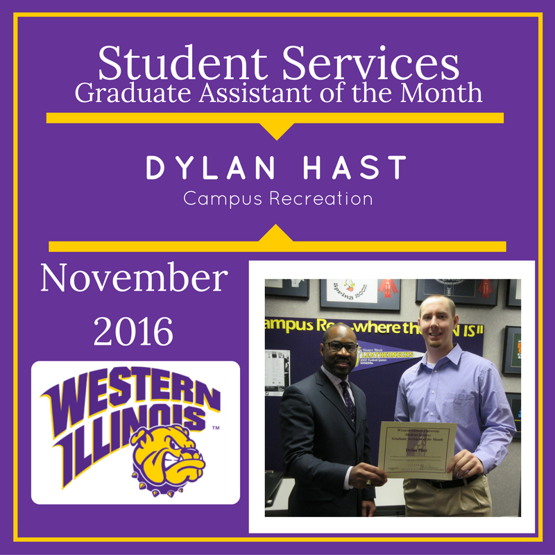 Graduate Assistant of the Month - Dylan Hast, Campus Recreation