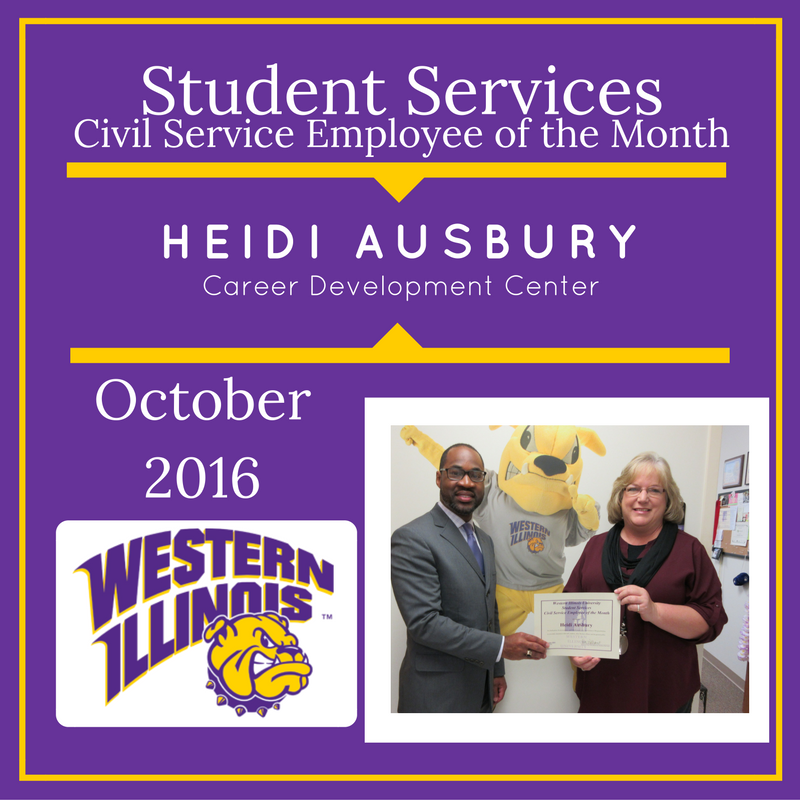 Civil Service Employee of the Month: Heidi Ausbury, Office Support Specialist, Career Development Center