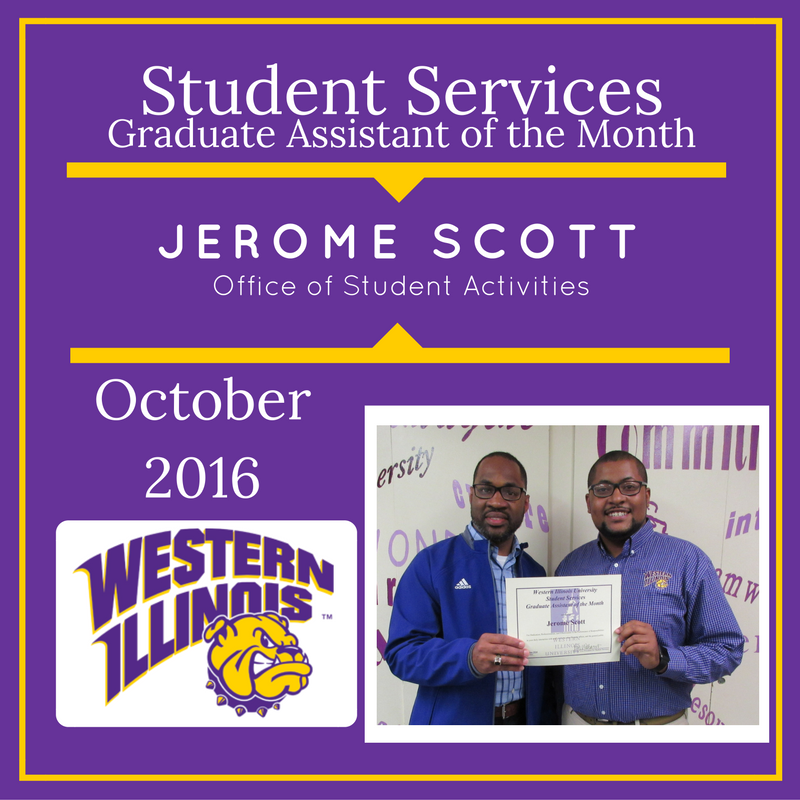 Graduate Assistant of the Month: Jerome Scott, Graduate Assistant, Office of Student Activities