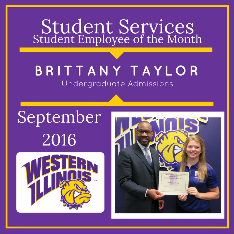 Student Employee of the Month: Brittany Taylor, Undergraduate Admissions