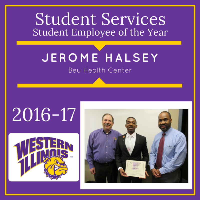 Student Employee of the Year:  Jerome_Halsey, Beu Health Center