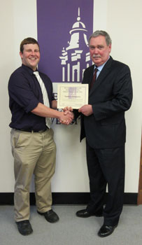 Student Employee of the Year:  Matthew Dougherty, Admissions Office