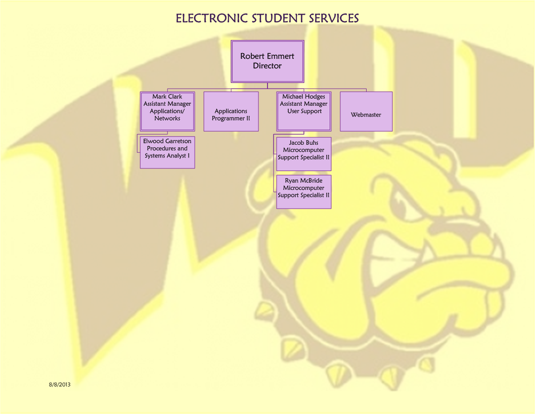 Electronic Student Services Organizational Chart