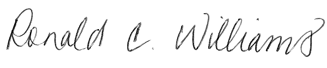 Ron Williams (signature)