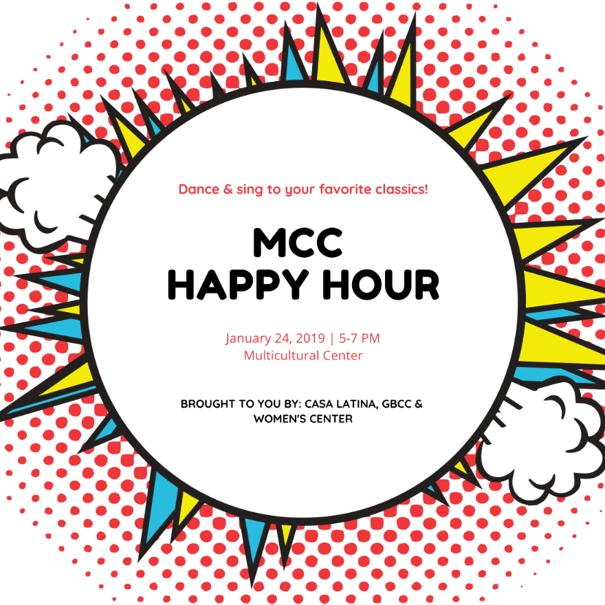 MCC Happy Hour Flyer