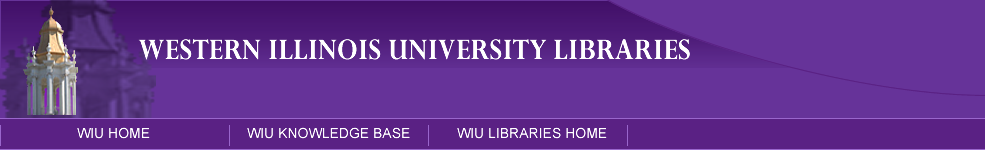 WIU Library Links