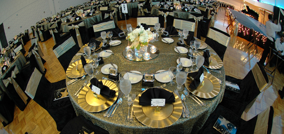 Table seating at a Major Donor's Banquet