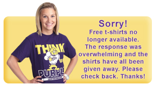 Sorry! Free shirts are no longer available. The response was overwhelming and the shirts have all been given away. Please check back. Thanks!