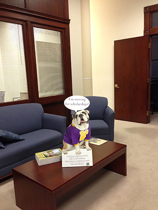 Rocky visits the office of the Vice President of Administrative Services