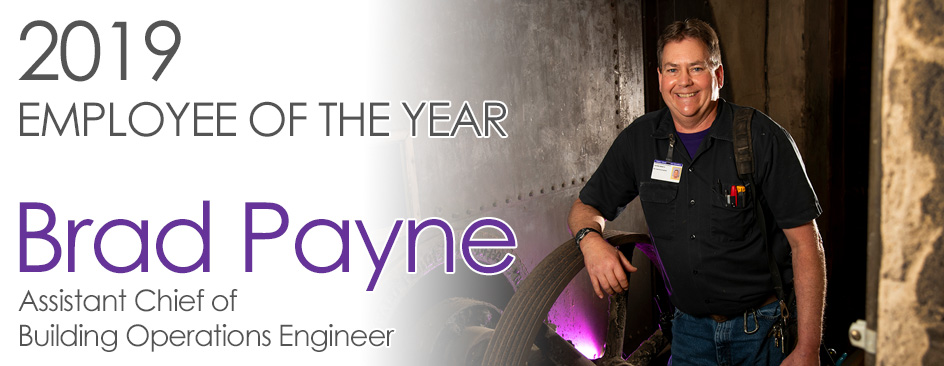 2019 Employee of the Year, Brad Payne