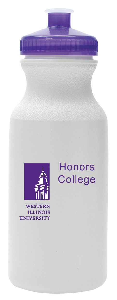 water bottle w/ tower logo