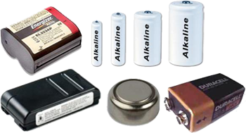 various batteries that can be recycled