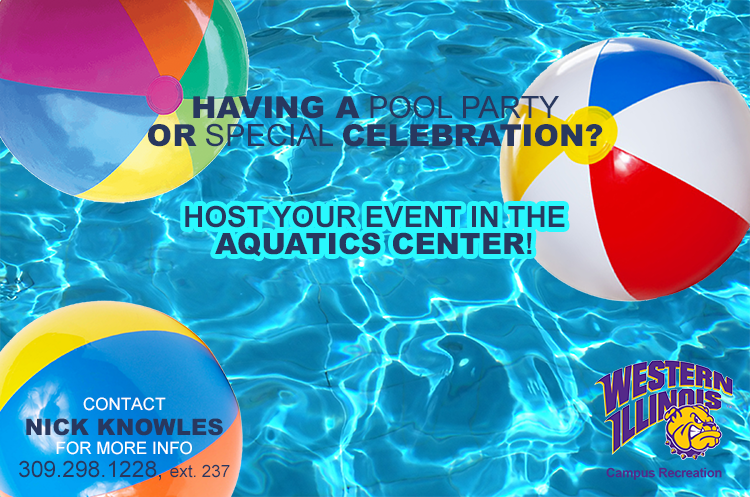 Book a pool party with WIU Aquatics Center